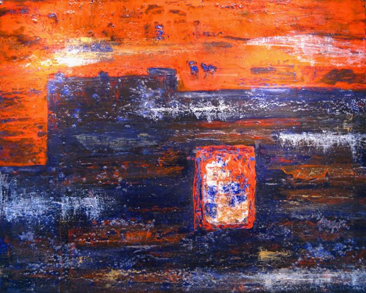 "Kasbah Amredil 30"" x 24"" Acrylic on canvas"