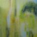 "Hierapolis Sulfurous pool 1 30"" x 36"" Mixed media on canvas"