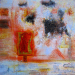 "Kayaköy 1-La Couleur du Temps  24"" x 24"" Mixed media on canvas"