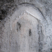 "Kayakoy Chapel mixed media  on canvas and 24"" x 24"""