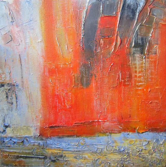 "Kekova 1 36"" x 36"" Mixed media on canvas"