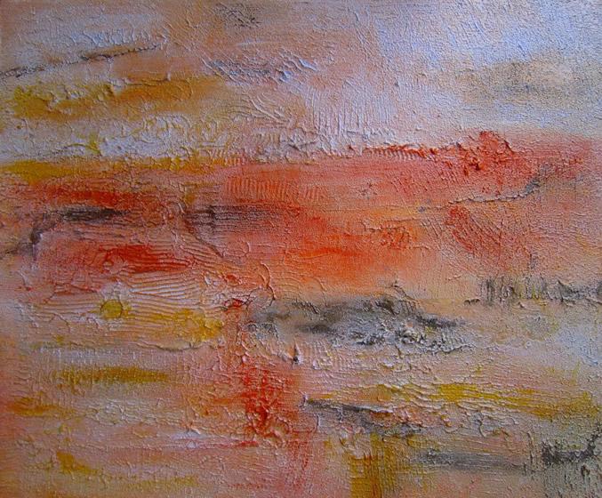 """Pamakkule Terrace 2 36"""" x 30"""" Mixed media on canvas"""