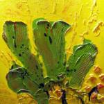 "Budding Cacti | mixed media on canvas | 24"" x 24"""