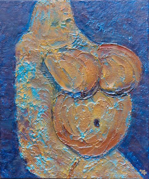 3_Michelle_Fertility Figure from Mnajdra Temple, Malta 36x30_2465