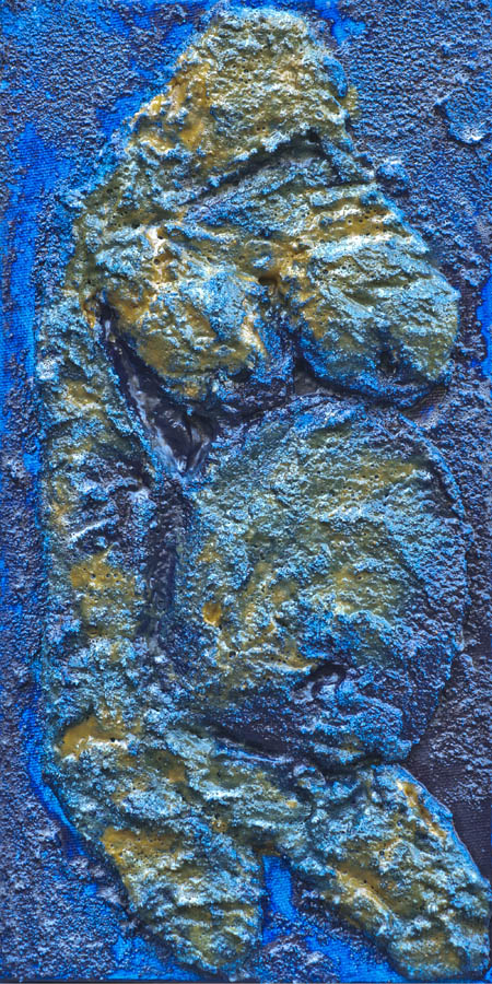 Fertility Figurine Anthraquinone Blue, Mnajdra Temple, Malta  12 x 6 DSC_2743