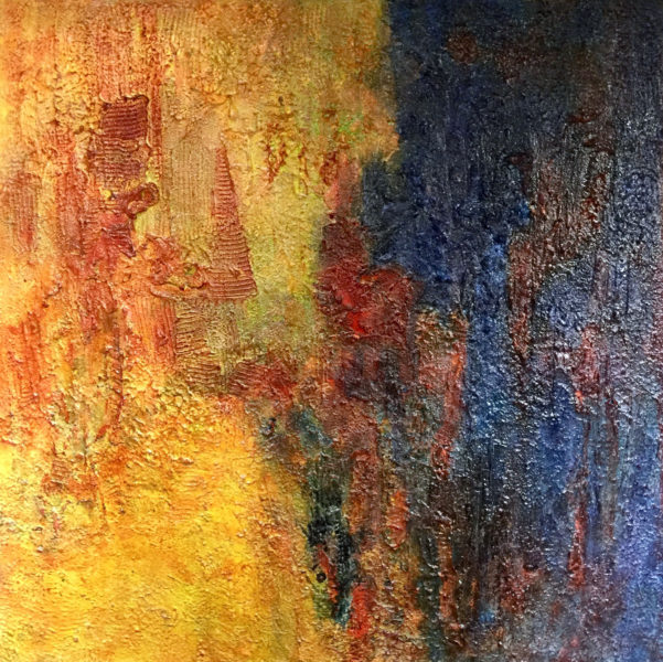 "Cava Resava, Despotovac, Serbia 9 36"" x 36"" Texture & Acrylic on canvas"